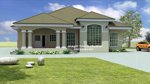 Stylish 5 Bedroom Bungalow House Plan In Nigeria Homes Zone House Plan In Nigeria Photo
