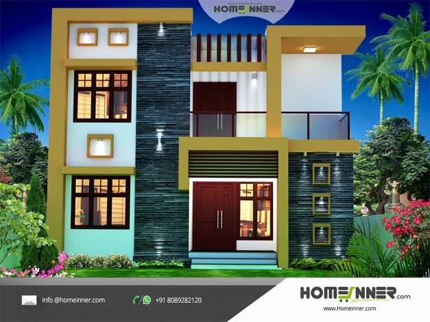 Wonderful Contemporary Style 1674 Sqft Economic House Plan Design Indian Home Interiors Pictures Low Budget Picture