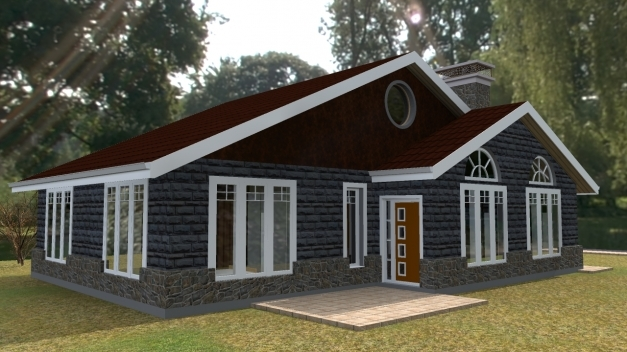 Wonderful Roofing Designs Pictures In Kenya Modern House Flat Roofed 3 Bungalow Kenya Images