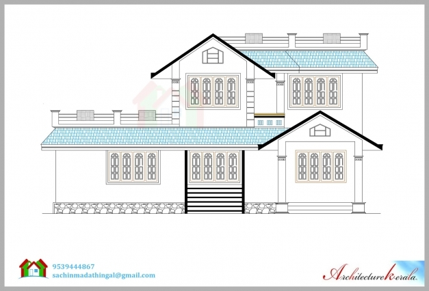 Amazing 1600 Square Feet House Plan And Its 3d Elevation Architecture Kerala Building Plan And Elevations Images