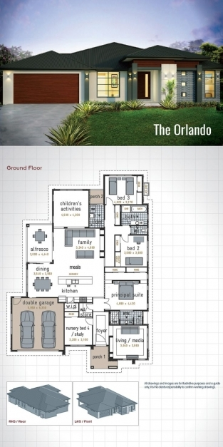 Awesome Best 25 Single Storey House Plans Ideas On Pinterest Story Modern 3 Bedroom House With Garage Pictures
