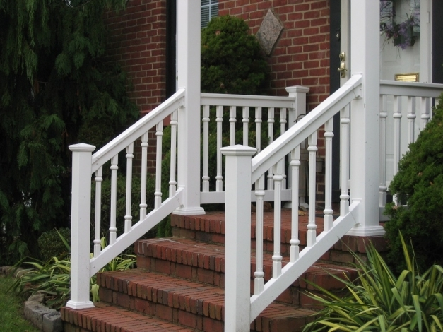 Awesome Pleasant Front Porch Railings Ideas Set New In Home Tips Gallery Front Porch Railings Ideas Images