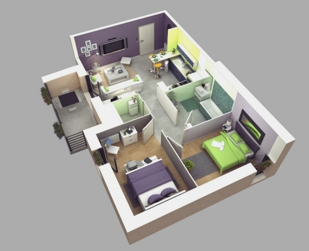 Awesome Small 2 Bedroom House Plans Webbkyrkan Webbkyrkan Simple House Plan With 4 Bedrooms 3d Pic