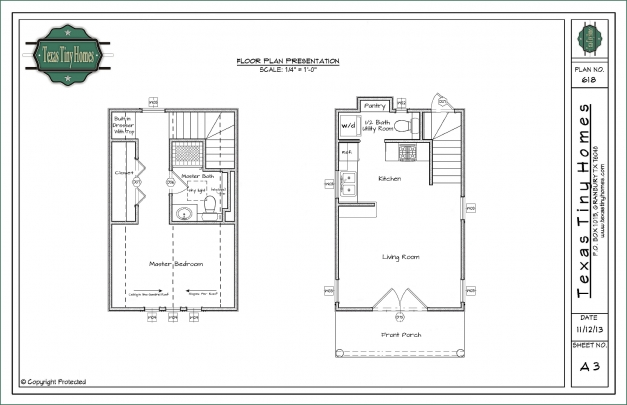 Awesome Texas Tiny Homes Plan 618 O Scale House Plans Floor Presentation Colorado House Plans Pic