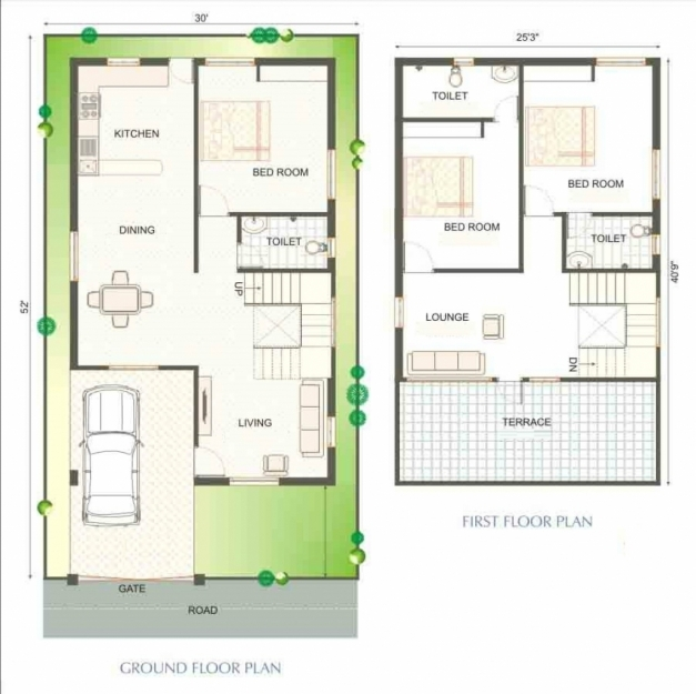 Best 25 Beautiful Duplex House Plan Of Awesome 2 Floors Design Area 1300 Sq Ft House Plans Indian Pics