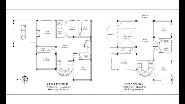 Best North Facing House 013d Imageplan Shuttering Deatils Youtube North Facing Kerala House Plans Photo