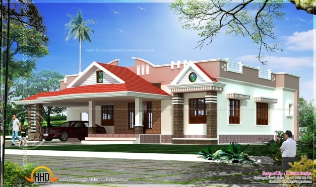 Best November 2013 Kerala Home Design And Floor Plans 1500sqft Single Storey Indian Contemporary House Plan Elevation And Section Photos