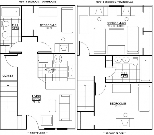 Delightful 25 More 3 Bedroom 3d Floor Plans Best House In India Small Luxihome Stunning Three Bedroom House Plan Photo