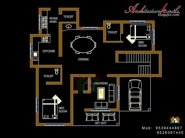 Delightful Architecture Kerala Four Bed Room House Plan 4 Bedroom House Plan Kerala Pics