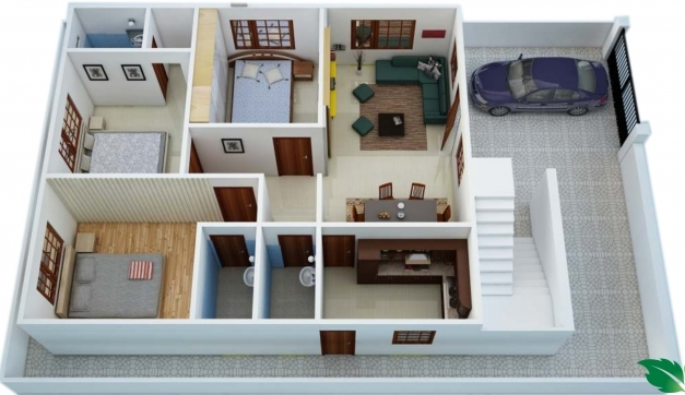 Delightful Indian Style House Plans 1200 Sq Ft Youtube 2 Bedroom 1300 1300 Sq Ft House Plans Indian Pictures