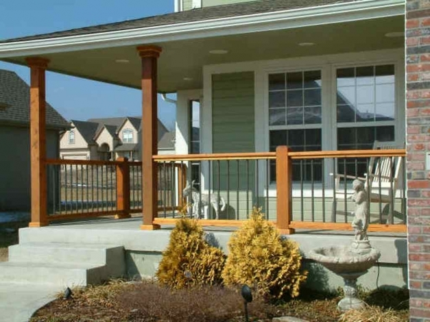 Delightful Metal Front Porch Railings Ideas Good Design Of Pictures Trends Front Porch Railings Ideas Pic