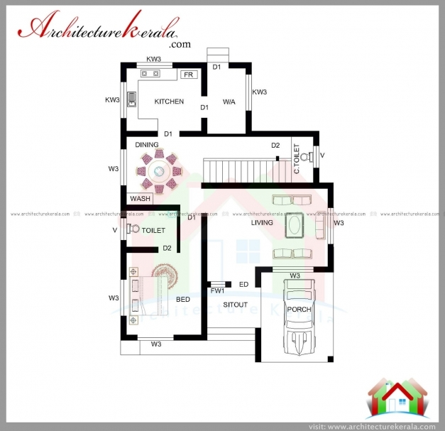 Fantastic 1800 Square Feet House Plan And Elevation Architecture Kerala Architecture Residential House Plan With Elevation Pictures