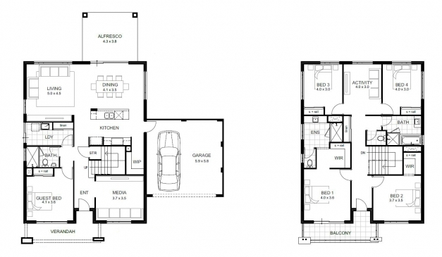 Fascinating 5 Bedroom House Designs Perth Double Storey Apg Homes Double Storey Residential Floor Plan Picture