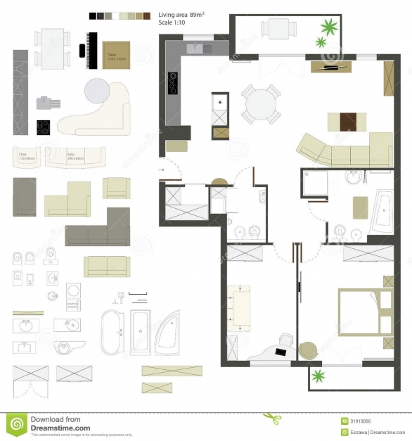 Fascinating Download Free Vector Floor Plan Elements Adhome 2d Plan Images Free Download Pics