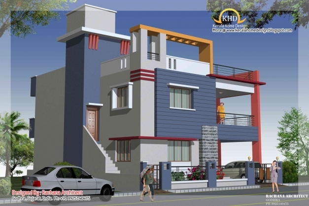 Fascinating Duplex House Plan And Elevation 2349 Sq Ft Home Appliance Architecture Residential House Plan With Elevation Image