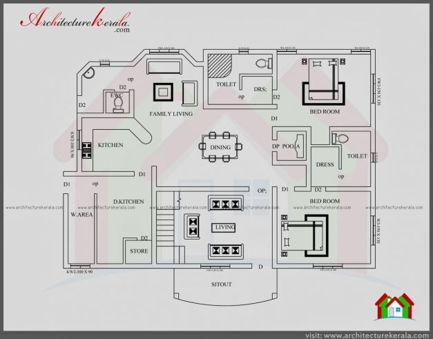 Gorgeous Contemporary Style House Plan And Elevation Architecture Kerala House Plan And Elevation Drawings Pic