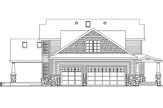 Gorgeous Craftsman House Plans Tillamook 30 519 Associated Designs Building Plan And Elevations Pic