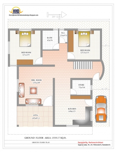 Gorgeous Duplex House Plan And Elevation 2878 Sq Ft Kerala Home 1200 S Feet House Elevation Pictures