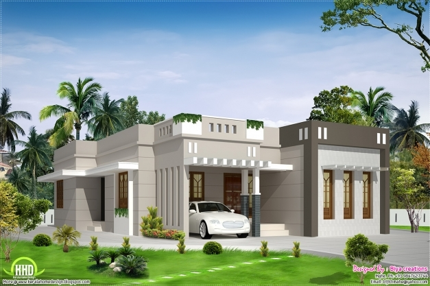 Incredible 2 Bedroom Single Storey Budget House Kerala House Design Idea 1500sqft Single Storey Indian Contemporary House Plan Elevation And Section Pic