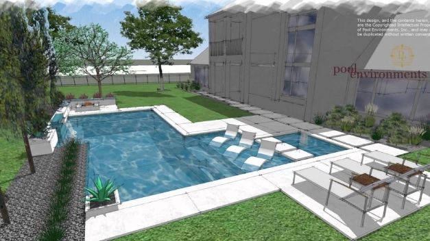 Incredible A Modern Swimming Pool Design For A Houston Client Randy Angell Contemporary Pool Design Photo