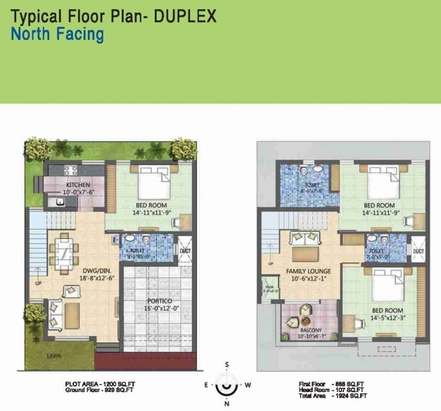 Incredible Duplex Plan 30x40use Floor Awesome 20x30 Plans North Facing North Facing Kerala House Plans Pictures