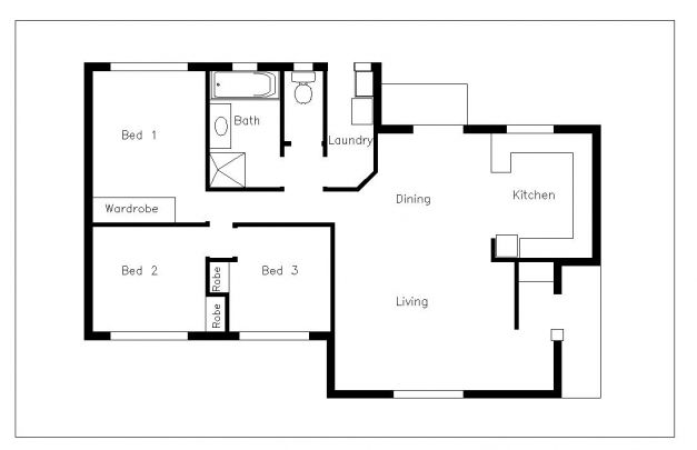 Incredible Glamorous 11 Floor Plan Sample House Autocad Plans Cad Drawings Sample Residential Building Autocad 2D Plan Picture