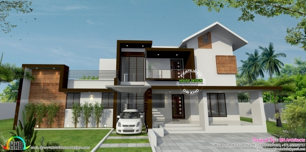 Incredible January 2016 Kerala Home Design And Floor Plans 1500sqft Single Storey Indian Contemporary House Plan Elevation And Section Pictures