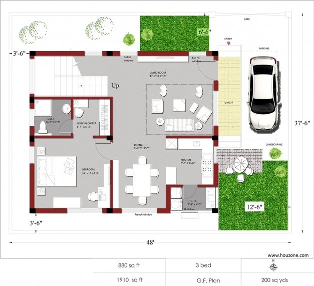 Inspiring Duplex House Plans Modern 3 Bedroom Home India Luxihome Indian House Plans Pics