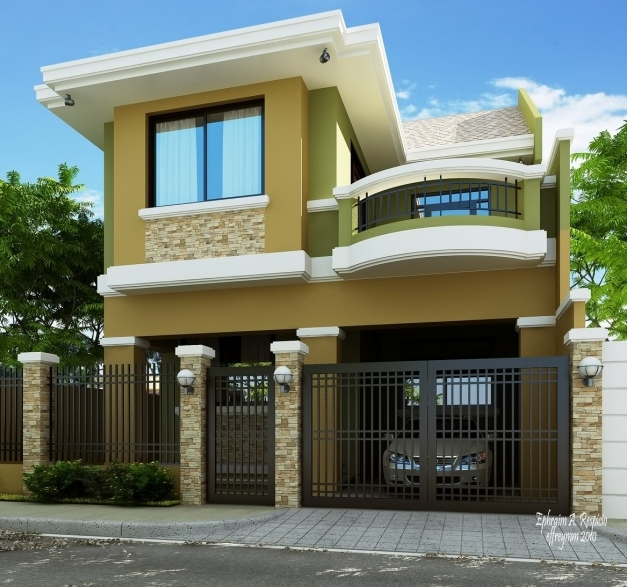 Inspiring Green Classy Residential House Home Design Classy House Designs Pic
