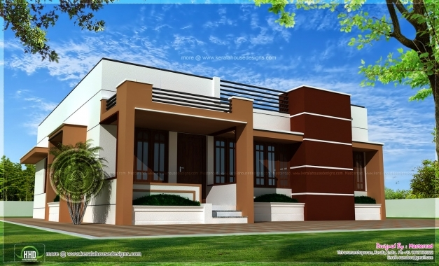 Inspiring Single Storied Contemporary House Kerala Home Design And Floor Plans 1500sqft Single Storey Indian Contemporary House Plan Elevation And Section Picture