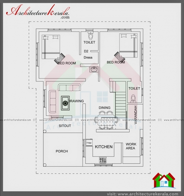 Marvelous Architecture Kerala 1000 Sqft Single Storied House Plan And North Facing Kerala House Plans Pictures