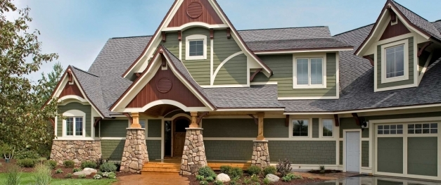 Marvelous Exterior Cheerful Picture Of Home Exterior Decoration Using Green Siding Houses Pictures