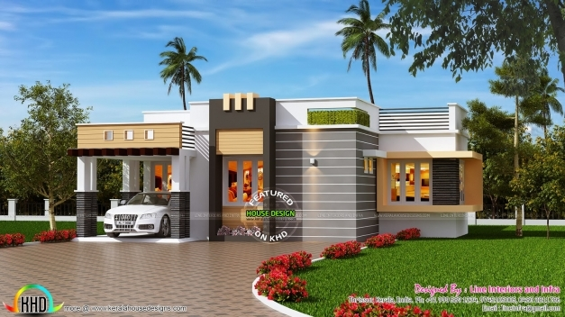 Marvelous January 2016 Kerala Home Design And Floor Plans 1500sqft Single Storey Indian Contemporary House Plan Elevation And Section Pictures