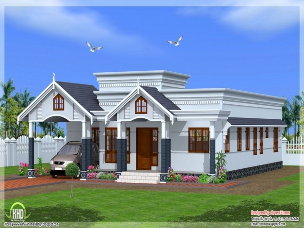 Marvelous Single Storey House Plans And Elevations Homes Zone 1500sqft Single Storey Indian Contemporary House Plan Elevation And Section Pictures