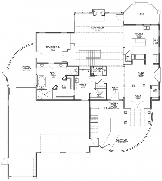 Outstanding Santa Fe Style Home With Walkout Floor Plan Evstudio Architect Colorado House Plans Pics