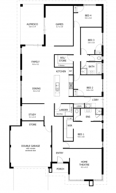 Remarkable 4 Bedroom Apartment House Plans Incredible Simple Corglife Simple 4 Bedroom House Plans Images