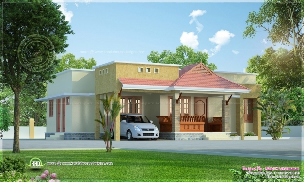 Remarkable Small Kerala Style Beautiful House Rendering Home Design Kerala Style Homes Image