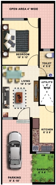 Stunning 1 Bhk Row House Plans Homes Zone 15*50 House Design Pics