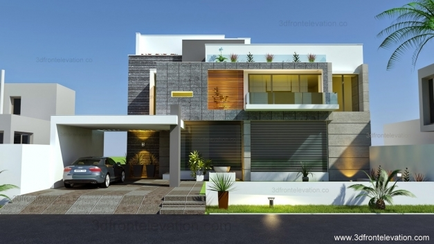 Stunning 3d Front Elevation Beautiful Modern Contemporary House Modern Elevation Photos