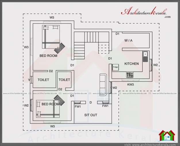Stunning 4 Bedroom House Plan In 1400 Square Feet Architecture Kerala 1200 S Feet House Elevation Photo