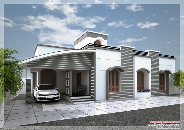 Stunning Single Storey House Plans And Elevations Homes Zone 1500sqft Single Storey Indian Contemporary House Plan Elevation And Section Pic