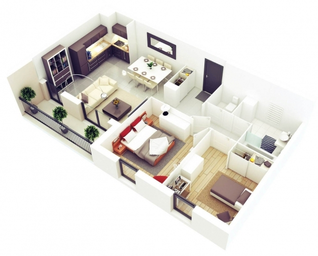 Stylish Download Small House 3d Plans Home Intercine Great 25 More 2 Simple House Plan With 3 Bedrooms 3d Pictures