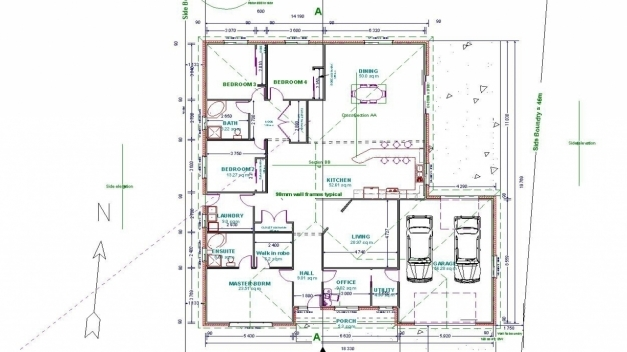 Stylish Floor Plan Autocad Practice Homes Zone Sample Residential Building Autocad 2D Plan Image