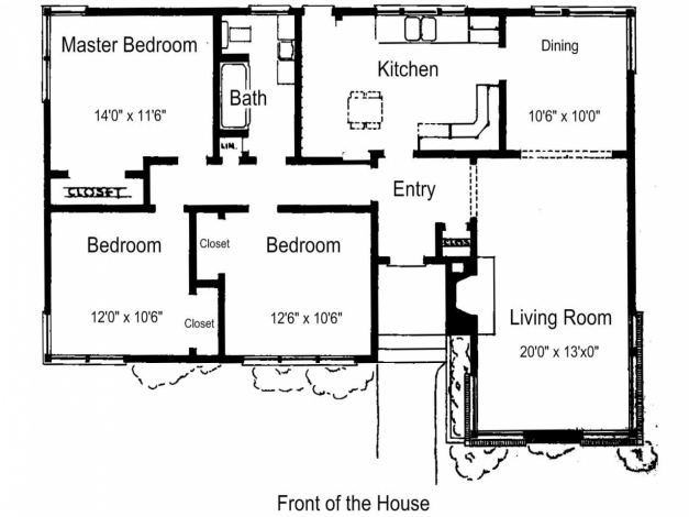 Stylish Simple Bedroom House Plans With Inspiration Image 3 Mariapngt Simple House Plan With 3 Bedrooms Image