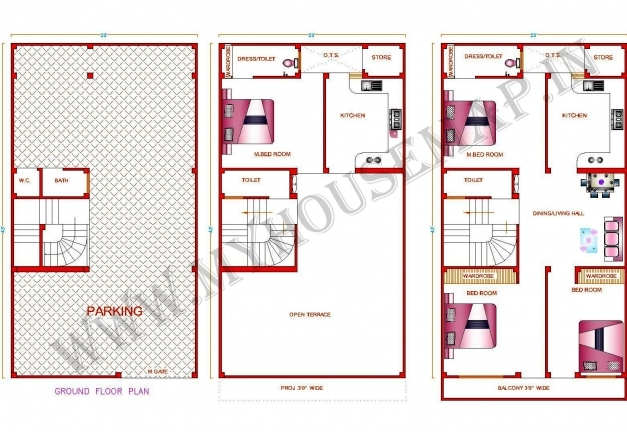Wonderful 15 X 50 House Design House And Home Design 15*50 House Design Images