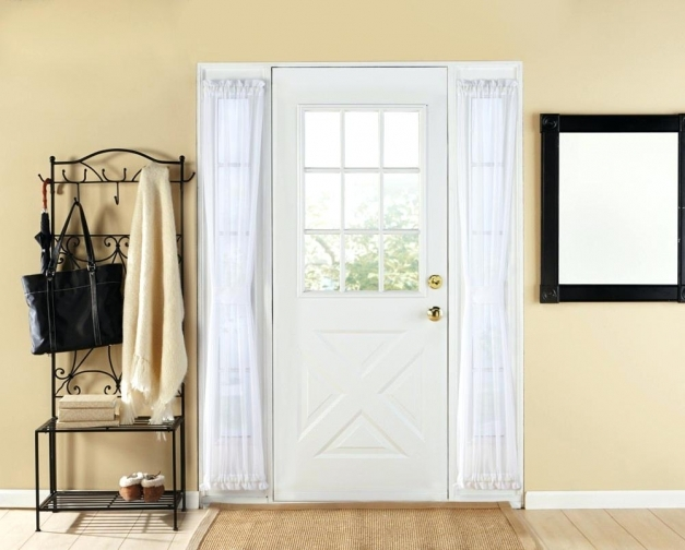 Wonderful Front Door Sidelight Blinds With Curtains Featured Rods Shutters Blinds For Sidelights Pictures