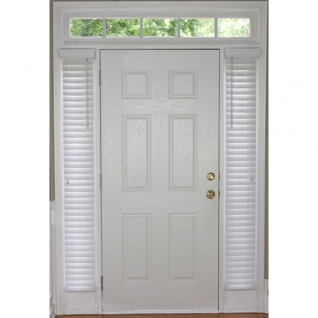 Wonderful Shop Style Selections 20 In White Faux Wood Room Darkening Blinds For Sidelights Pics