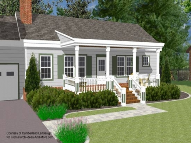 Wonderful Small House With Ranch Style Porch Front Porch Designs For Ranch Front Porch Designs For Ranch Homes Photos