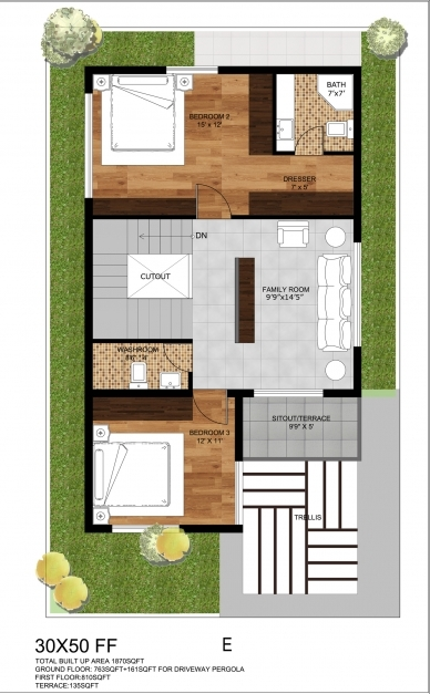 Amazing 0 Lovely House Plans 25 X 30 House And Floor Plan House And Ideas For 15×50 Home Pics