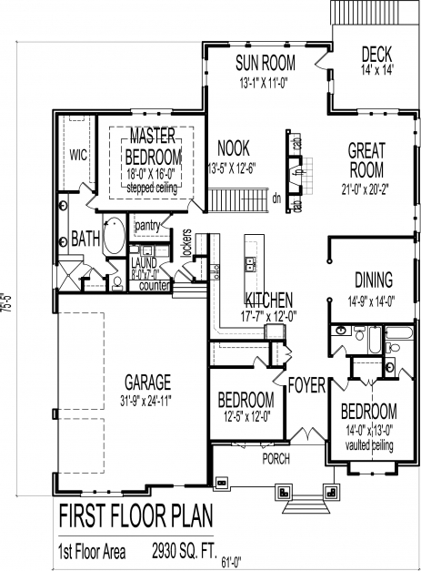 Awesome Appealing Floor Plan 3 Bedroom Bungalow House 97 About Remodel 3 Bedroom Bungalow Floor Plan Image